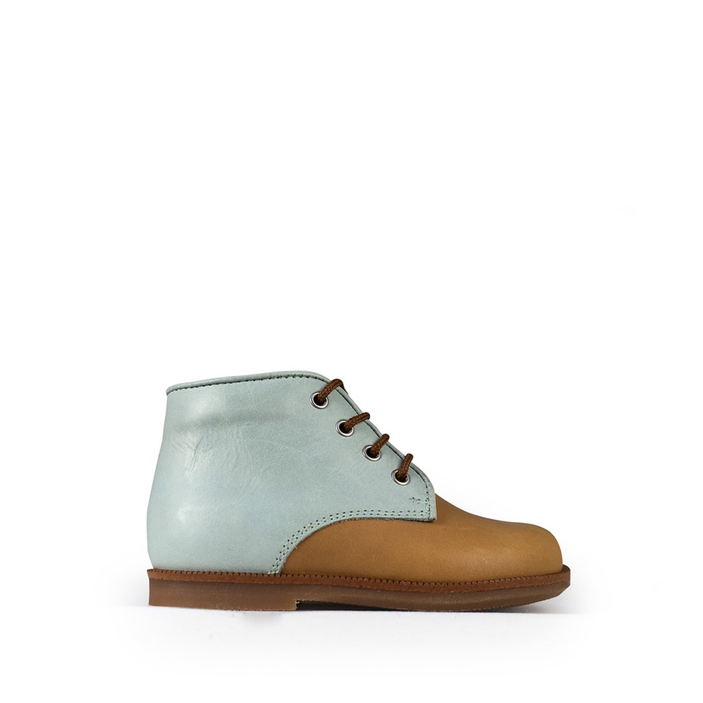 Beberlis - First step shoe in brown and mint