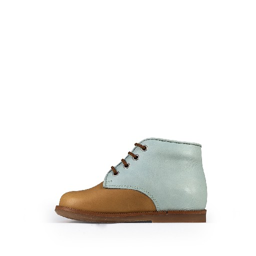 Beberlis first walker First step shoe in brown and mint