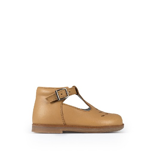 Kids shoe online Beberlis first walker Brown summer shoe