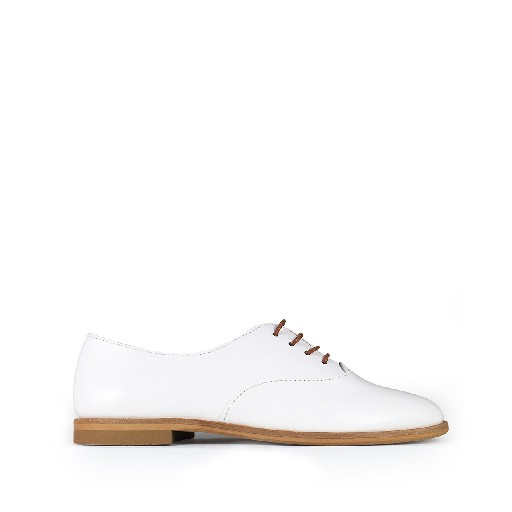 Kids shoe online Beberlis lace-up shoe Elegant white derby shoe