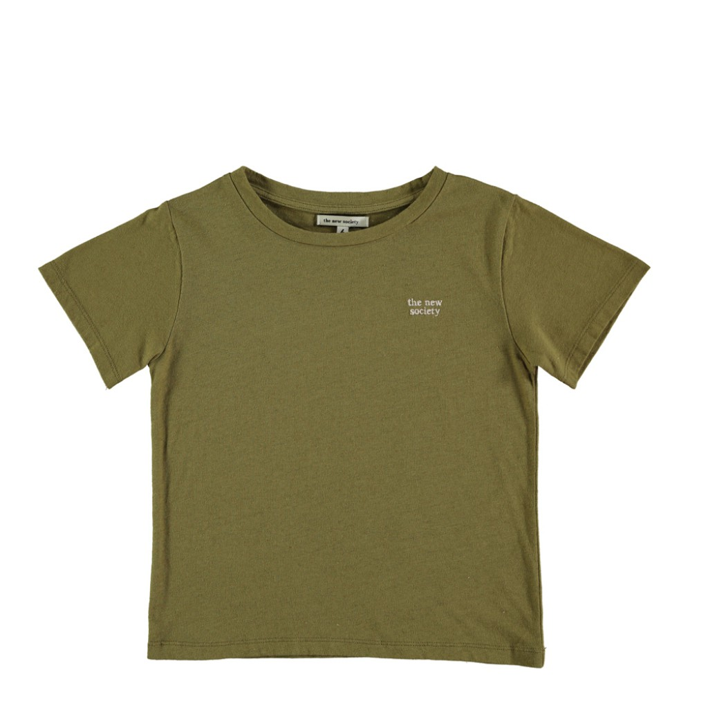 The new society - Logo t-shirt khaki