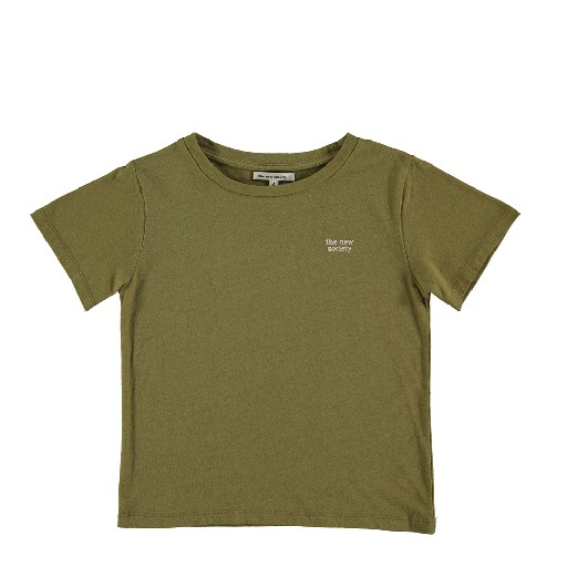 Kids shoe online The new society t-shirts Logo t-shirt khaki