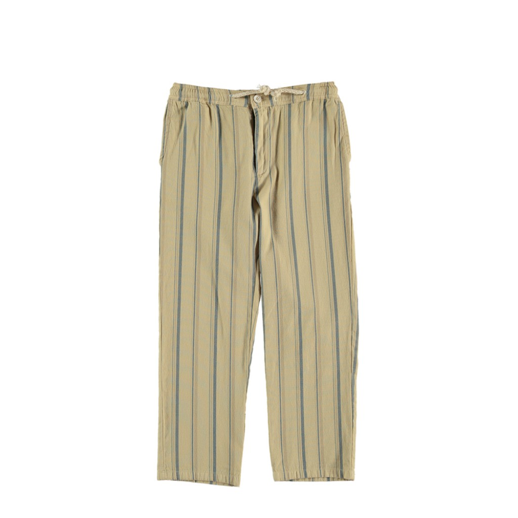The new society trousers Beige striped trousers
