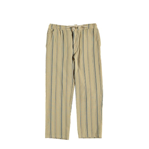 Kids shoe online The new society trousers Beige striped trousers