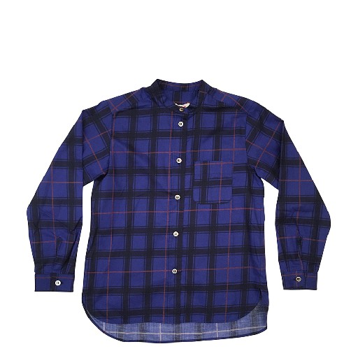 Kids shoe online Maan Shirts Blue checkered shirt