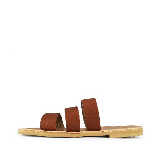Théluto sandal Stylish brown leather slippers Ines