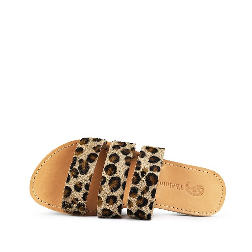 Théluto sandals Stylish leopard leather slippers Ines