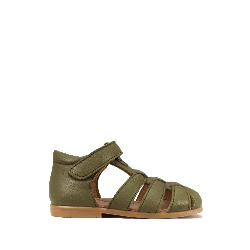 Kids shoe online Two Con Me by Pepe sandal Closed olive green toddler's sandal