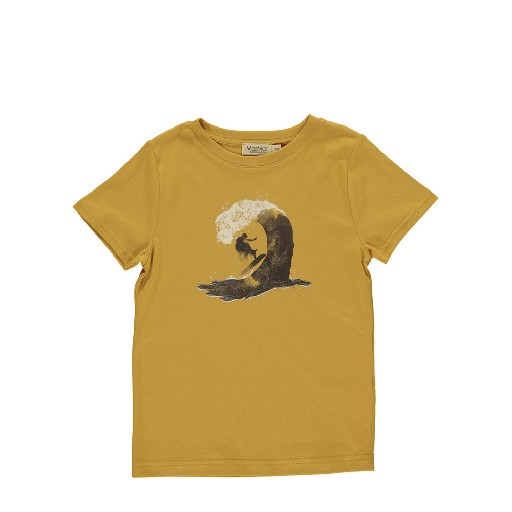 Kids shoe online MarMar Copenhagen t-shirts Ochre t-shirt with print