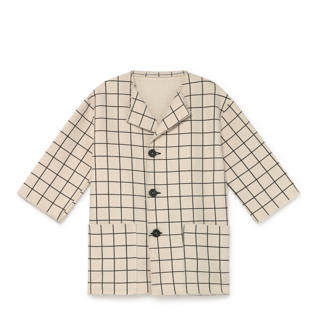 Little Creative Factory - Cream-coloured plaid jacket
