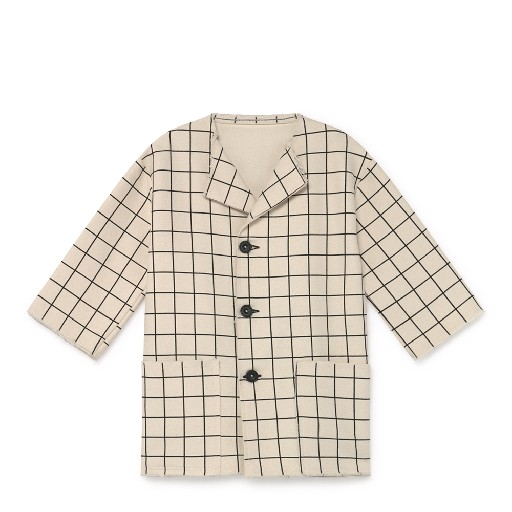 Kids shoe online Little Creative Factory jackets Cream-coloured plaid jacket