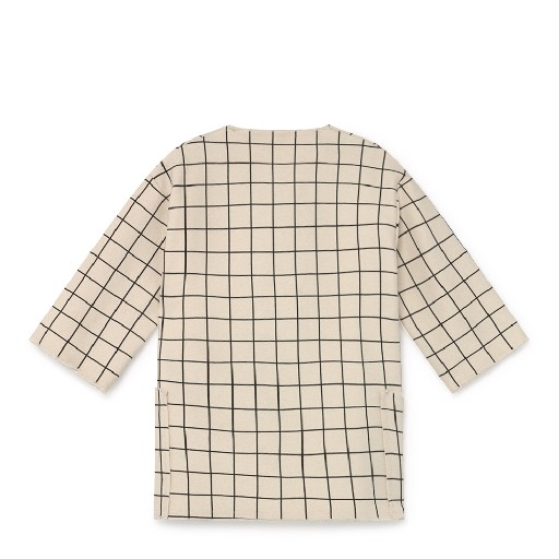 Little Creative Factory jackets Cream-coloured plaid jacket
