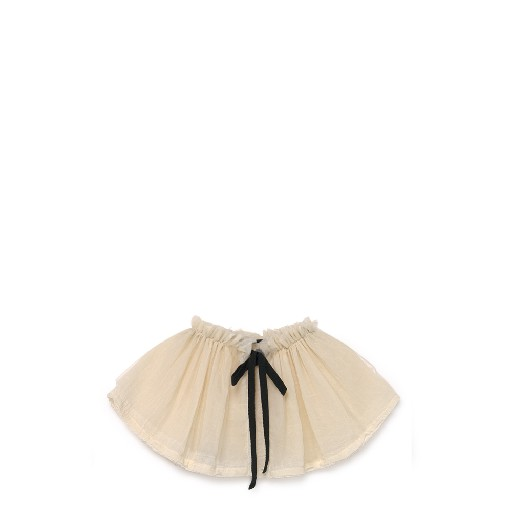 Kids shoe online Little Creative Factory collar Cream-coloured tulle neck collar