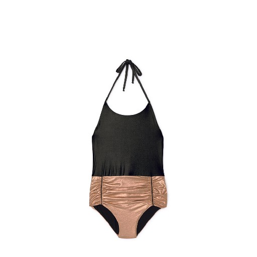 Kids shoe online Little Creative Factory bathing suit Vintage swimsuit copper and black