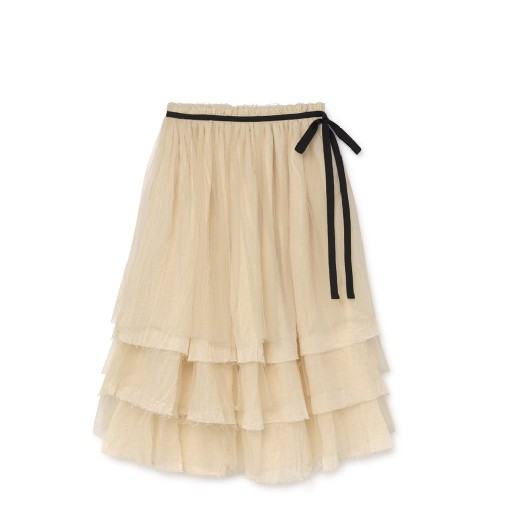Kids shoe online Little Creative Factory skirts Layered muslin skirt