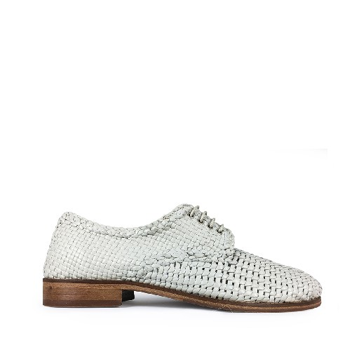 Kids shoe online Momino lace-up shoe Off white braided derby shoes