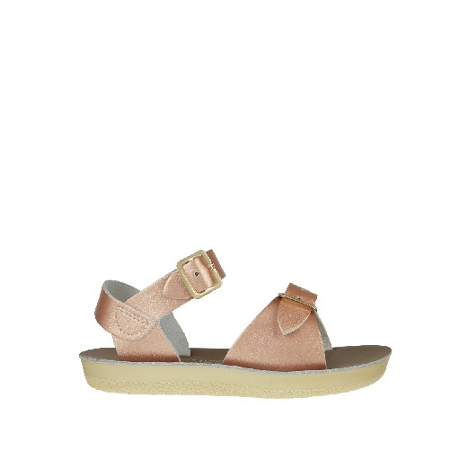 Kinderschoen online Salt water sandal sandaal Salt Water Surfer sandaal in rosé goud