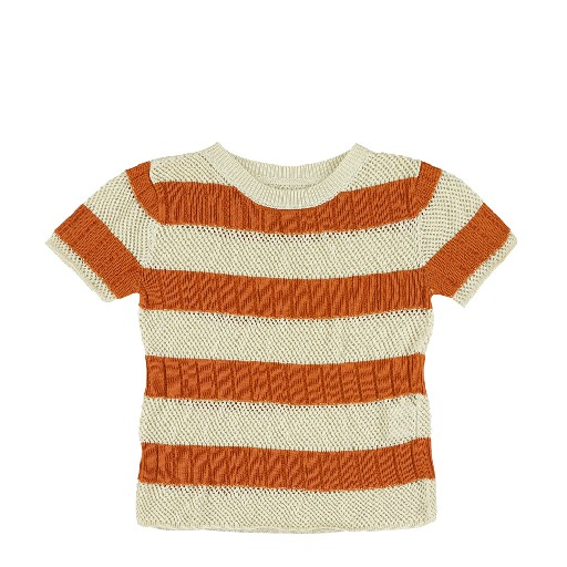 Kids shoe online Aymara tops Fine-knit striped t-shirt