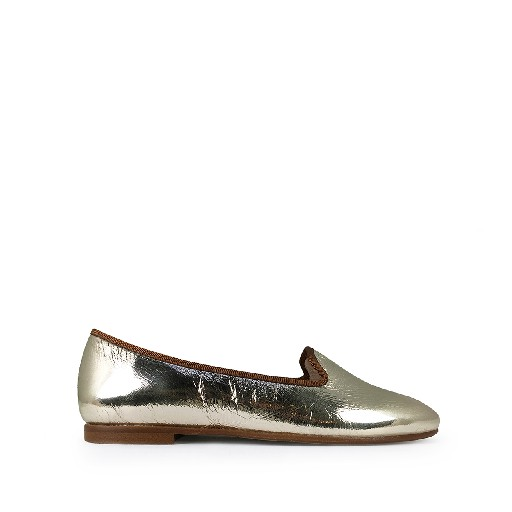 Kids shoe online Beberlis mary jane Ballerina loafer in metallic gold