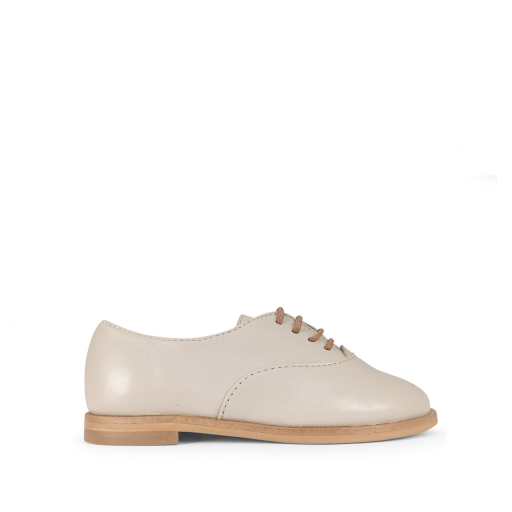 Kids shoe online Beberlis lace-up shoe Elegant nude beige derby shoe