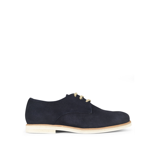 Kids shoe online Beberlis lace-up shoe Dark blue nubuck derby shoe