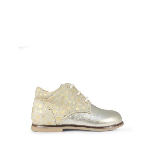 Kids shoe online Ocra first walker First stepper in gold with stars
