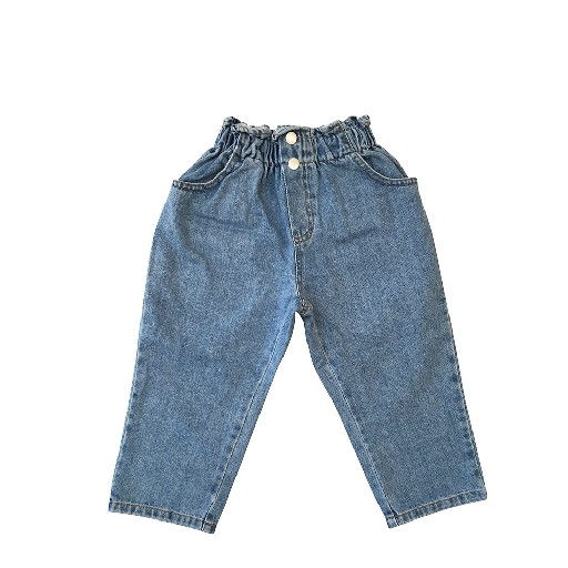 Kids shoe online Anna Pops jeans Two button jeans blue