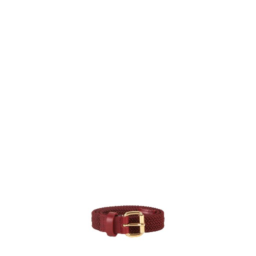 Kids shoe online Wolf & Rita belts Burgundy belt with gold buckle