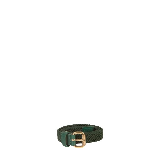Kids shoe online Wolf & Rita belts Green belt with gold buckle