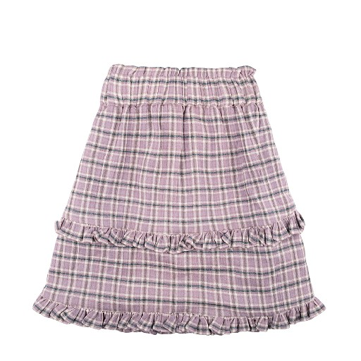 Kids shoe online The new society skirts Purple check skirt