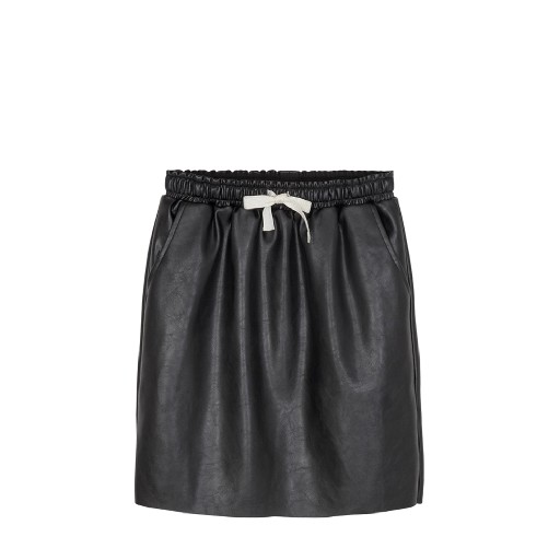 Kids shoe online Designers Remix skirts Black faux-leather skirt