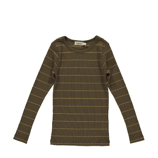 Kids shoe online MarMar Copenhagen tops Darkgreen striped longsleeve