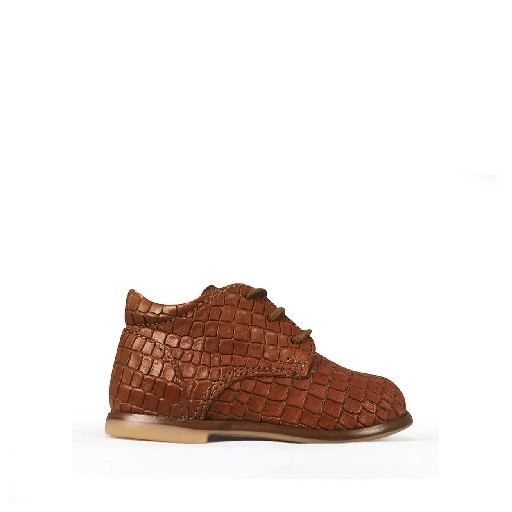 Kids shoe online Ocra first walker First stepper brown croco