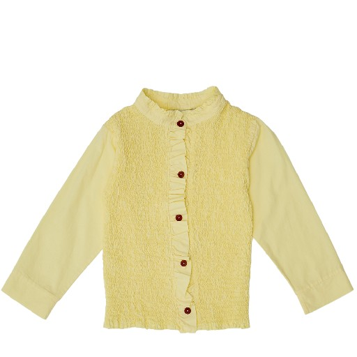 Kids shoe online The Campamento blouses Yellow smocked shirt