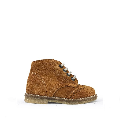 Kids shoe online Gallucci first walker Small lace boot with brogues