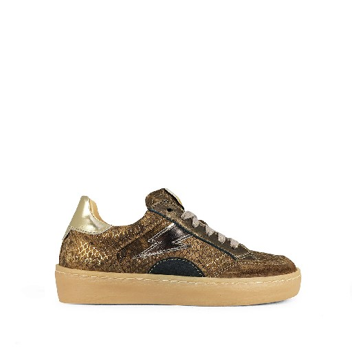 Kids shoe online Ocra trainer Snake sneaker with metallic details