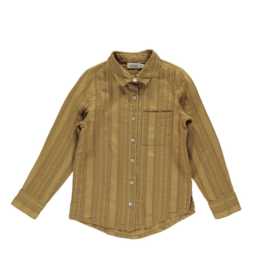 MarMar Copenhagen - Brown blouse with embroidery