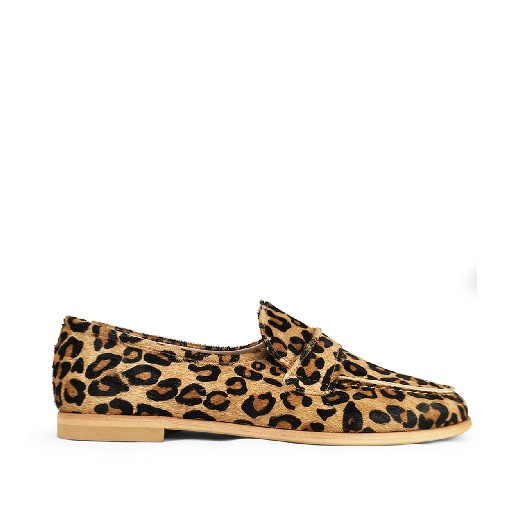 Kids shoe online Beberlis loafers Leopard loafers