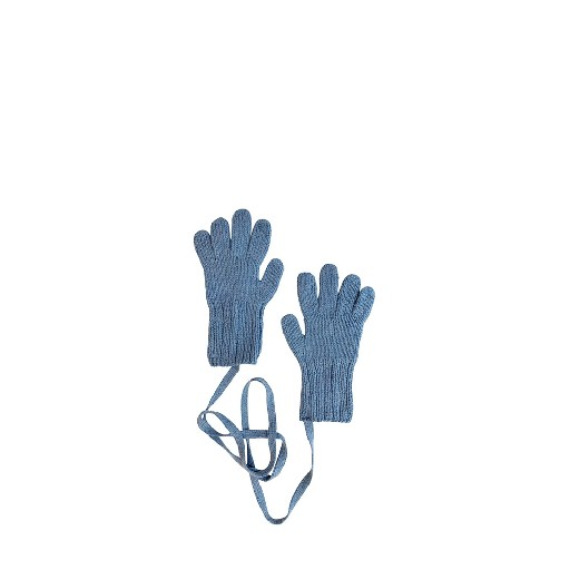 Kids shoe online Aymara mittens Lightblue knitted gloves
