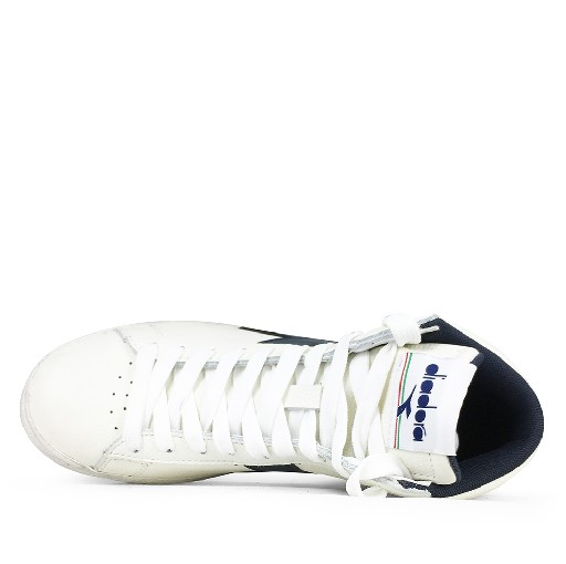 Diadora trainer Semi-high white sneaker with blue logo