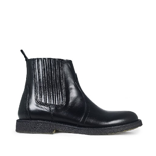 Kids shoe online Angulus short boots Black chelsea boot