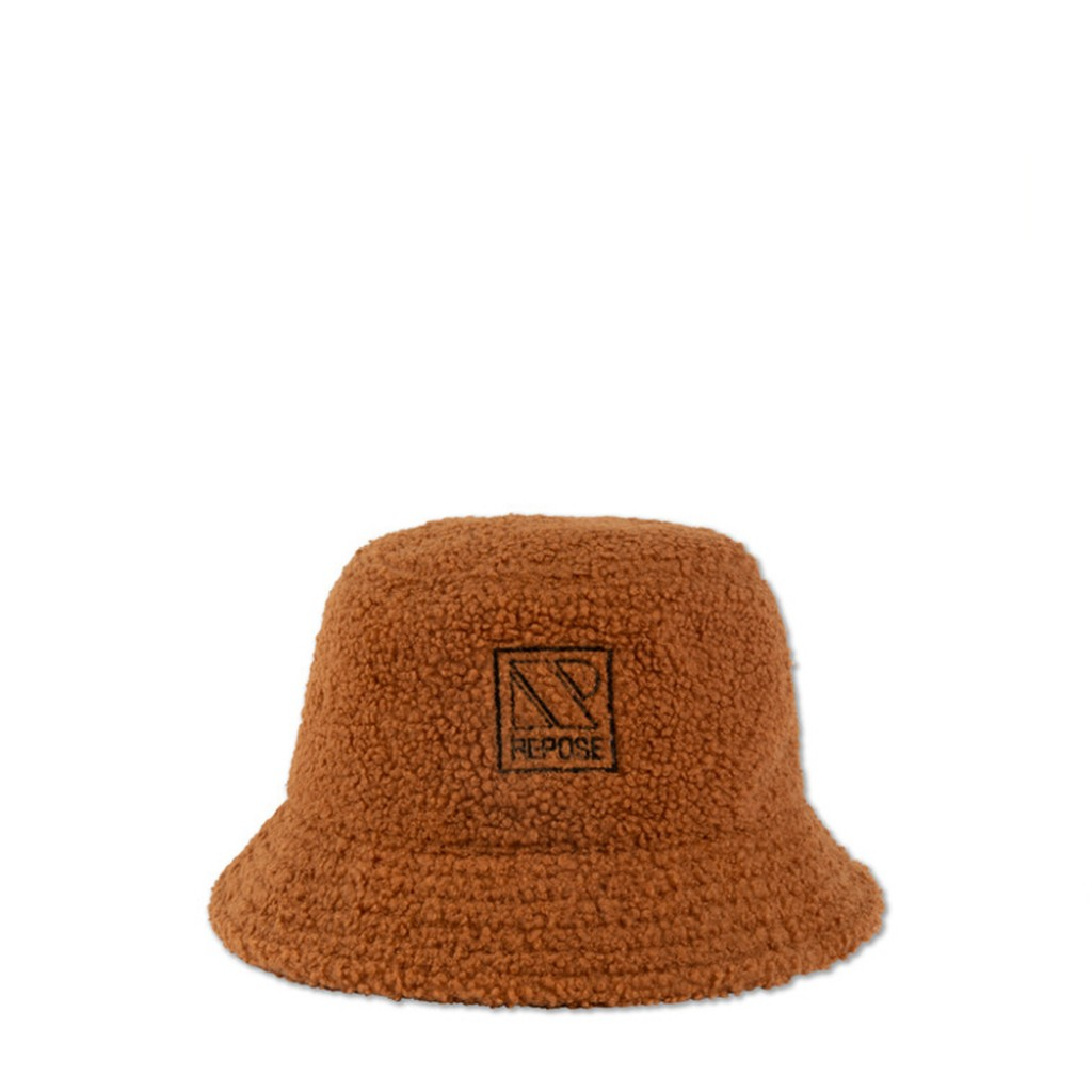 Repose AMS - Bucket hat in fluffy caramel