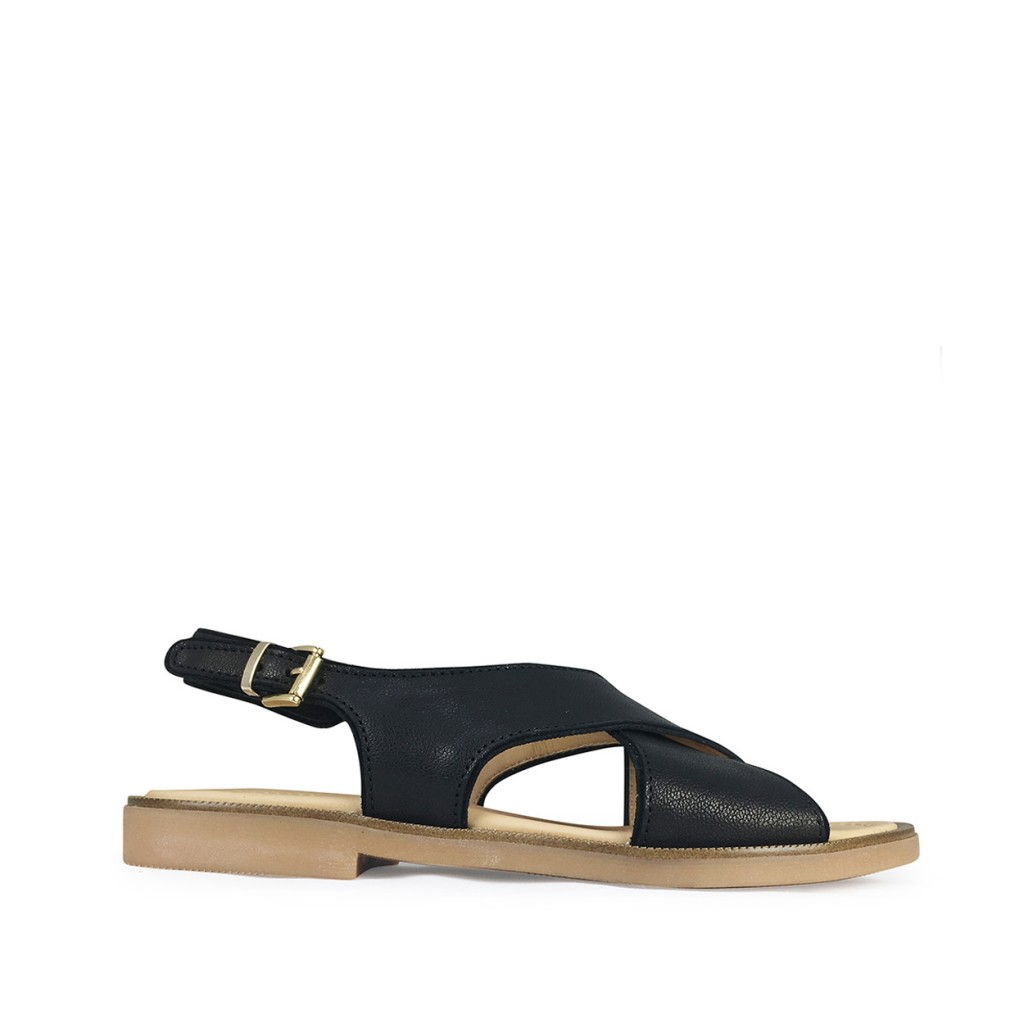 Momino - Black sandals with buckle