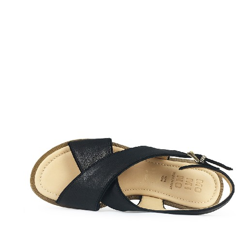 Momino sandals Black sandals with buckle