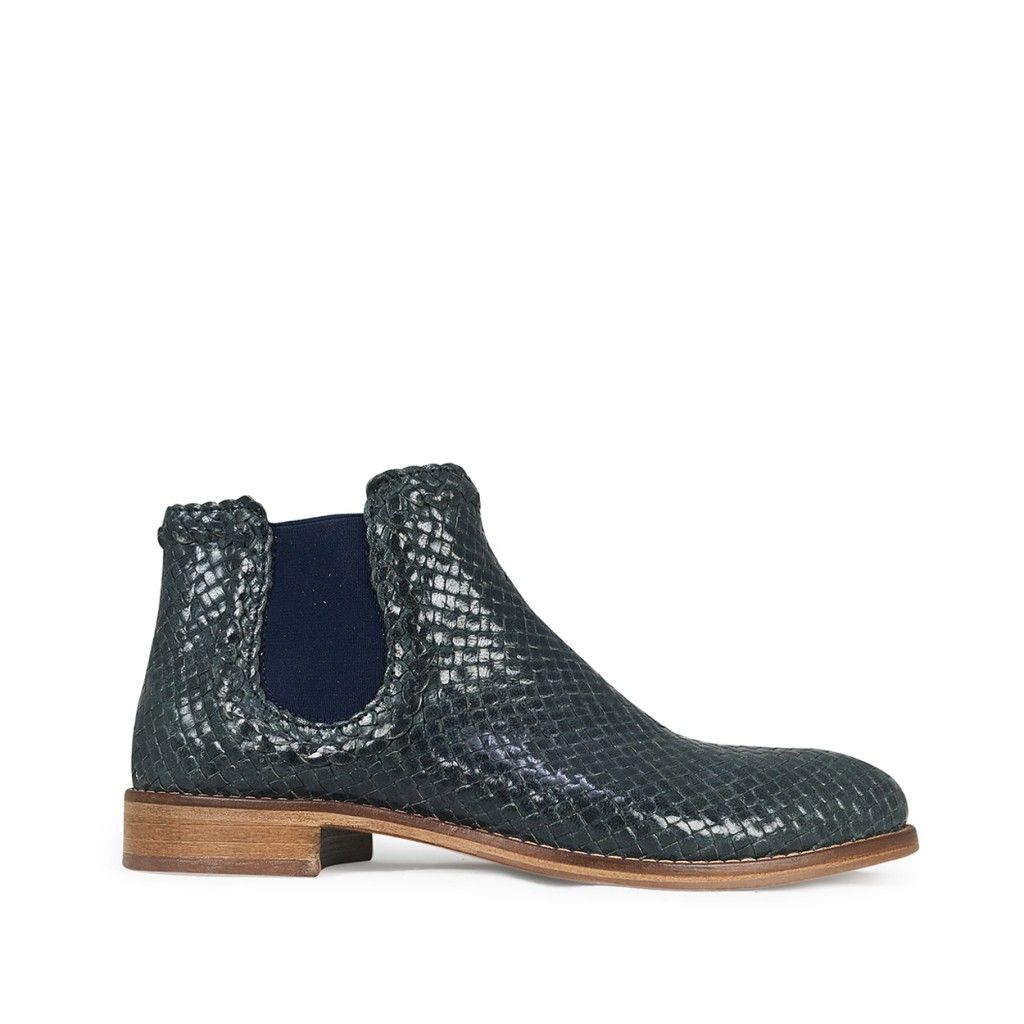 Momino - Blue braided chelsea boot