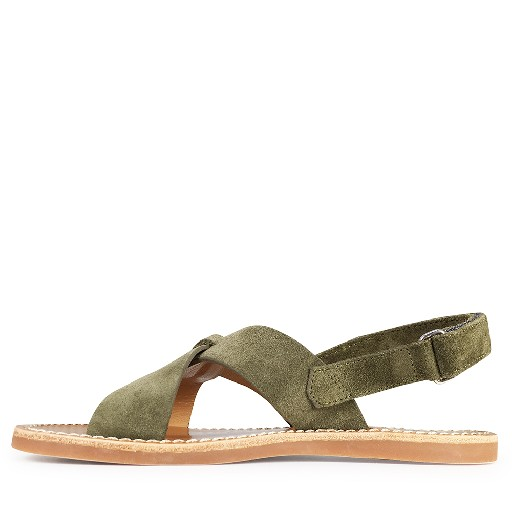 Pom d'api sandals Olive sandal with crossed band