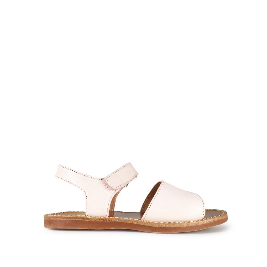 Pom d'api - Powder pink sandal with closed heel
