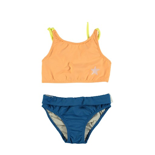 Kids shoe online Piupiuchick Bikini Tricolor bikini with blue, orange and yellow