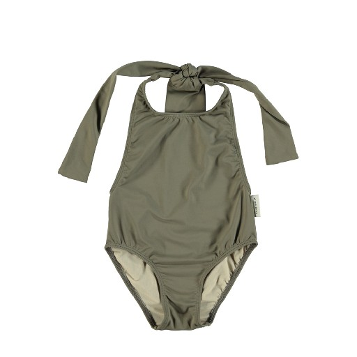 Kids shoe online Piupiuchick bathing suit Taupe swimsuit with back bow