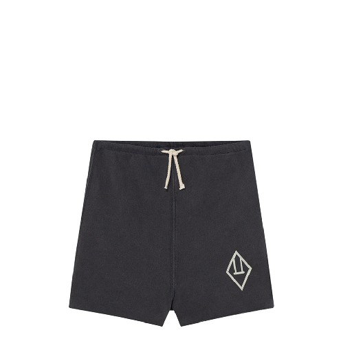 Kids shoe online The Animals Observatory shorts Dark grey short with logo TAO
